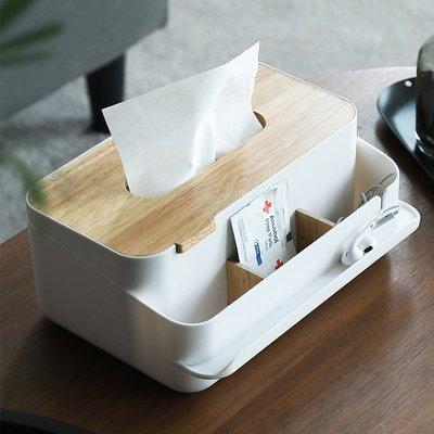 兩木片分隔款面紙盒 可拆分隔面紙盒 木蓋面紙盒 紙巾盒 衛生紙盒 桌上收納盒 日式置物盒 木頭面紙盒【RS1089】