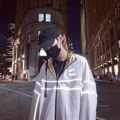 Nike x Ambush Track Jacket 双面穿3M反光防風夾克二色 正反穿 金銀二色