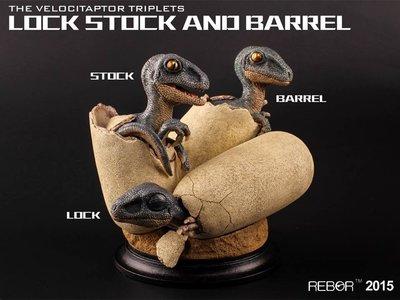 ***玩具high客***-NO.I99106-02-侏儸紀恐龍系列-英國REBOR-迅猛龍寶寶模型(限量版)