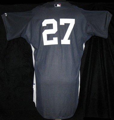 MLB New York Yankees #27 Joe Girardi Game Issued BP Jersey
