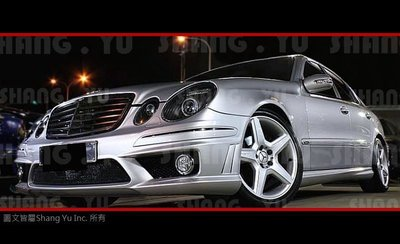 BENZ W211 AMG 側裙 套件 E63 E55 E320 E280 E200 E350