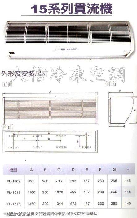 【議晟空氣門】【FL-1512A】【110V / 220V】120CM / 4尺 空氣門 風量射程 4M