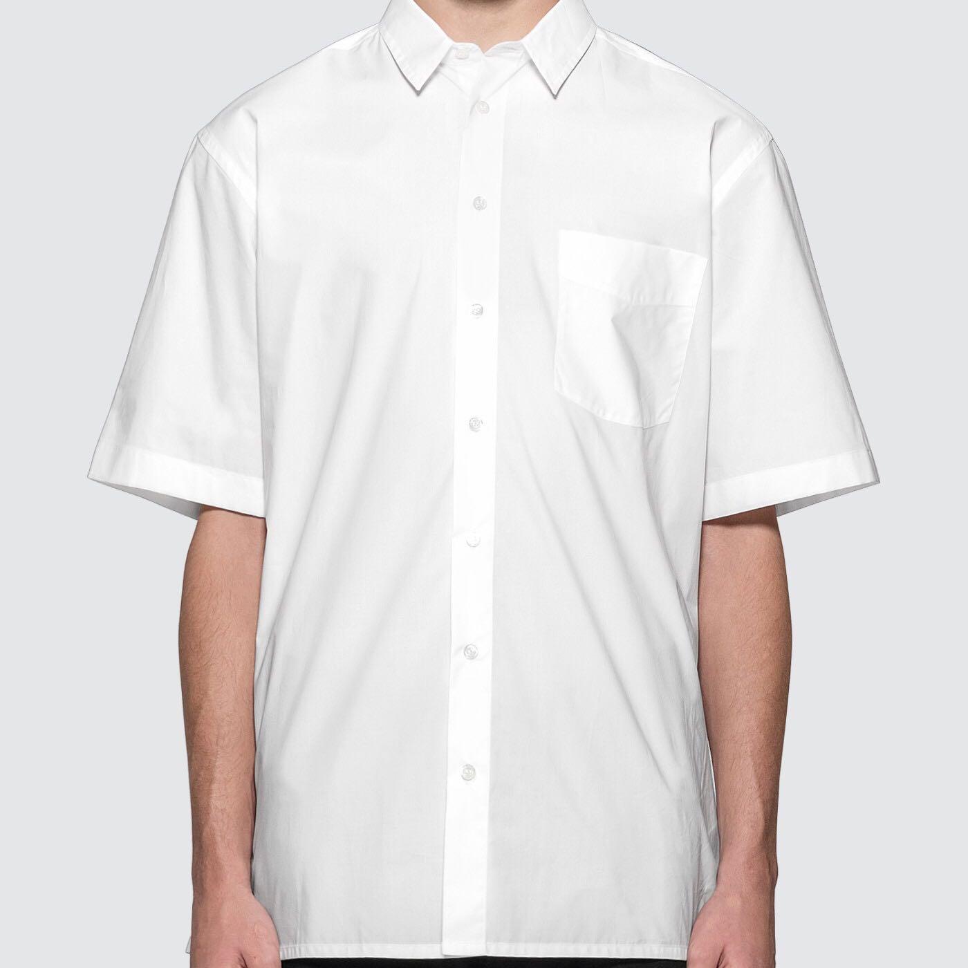 Raf Simons - Short Sleeved Shirt With Back Print 男背後印花襯衫 超低折扣代購中