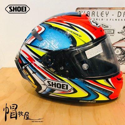 【帽牧屋】日本 SHOEI X14 DAIJIRO TC-1 全罩式安全帽 進口帽 選手帽 公司貨 加藤大治郎 藍/紅