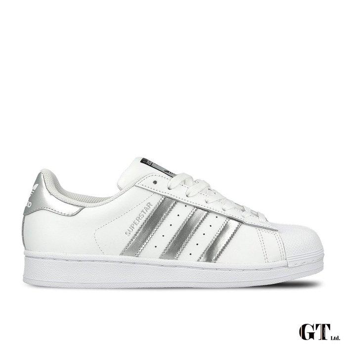 【GT】Adidas Superstar 白銀 女鞋 低筒 板鞋 運動鞋 慢跑鞋 休閒鞋 貝殼頭 經典款 AQ3091