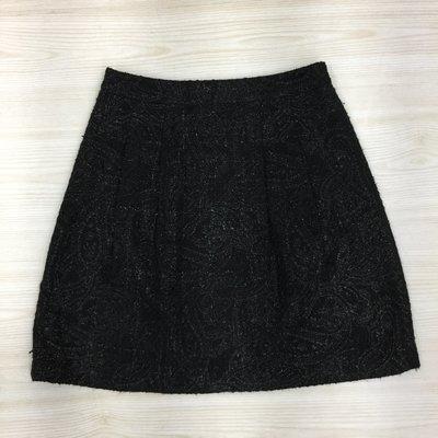 【愛莎&嵐】 Key Wear  黑色素面淑女及膝短裙 / L   1080215