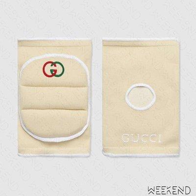 【WEEKEND】 GUCCI Logo 配飾 護膝 短褲可搭配 白色 19秋冬