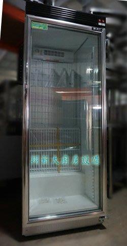 ◇翔新大廚房設備◇全新【瑞興 RS-S1014B(320L) 直立式單門冷藏展示冰箱】冷藏玻璃展示冰箱/櫃