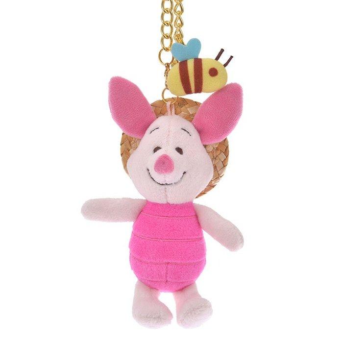 《FOS》2019新款 日本 迪士尼 草帽 小豬 吊飾 玩偶 維尼 Disney 可愛 療癒 玩具 收藏 限量 熱銷