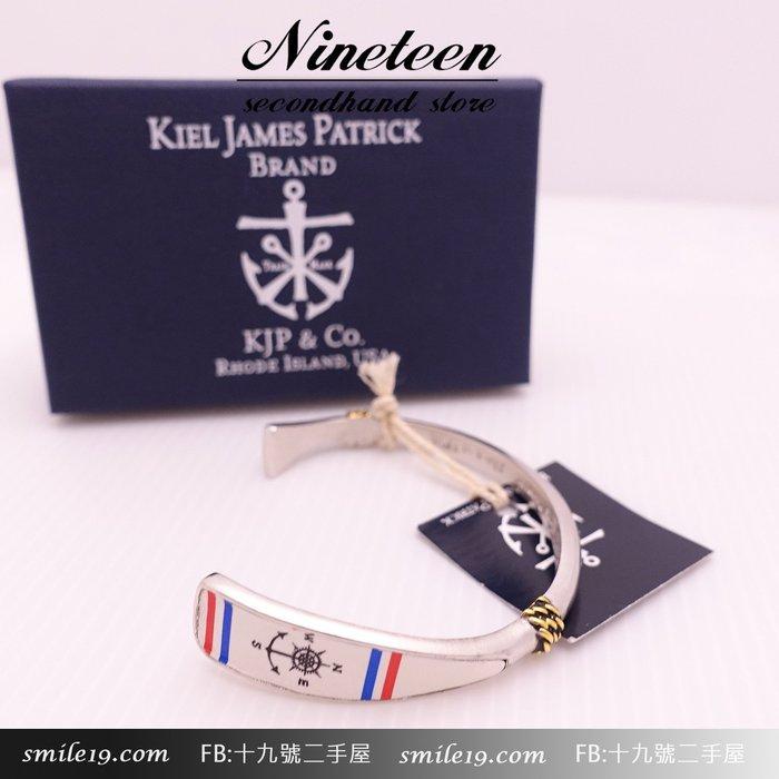 《十九號二手屋》Kiel James Patrick 美國手工JASPER SWIFT船錨圖騰天然軟木可調節手環