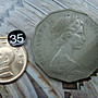 ☆豐臣館☆錢幣 澳大利亞 1980年 50 Cents袋鼠鴯鶓錢幣~C059