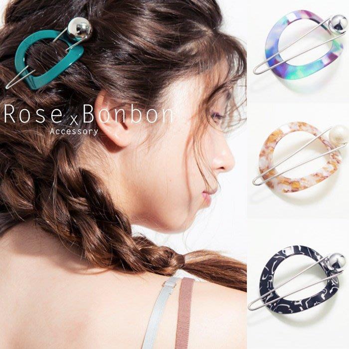 日本Ane Mone sAn圈圈髮扣盤髮神器 髮髻髮夾 醋酸髮夾 低馬尾 編髮Rose Bonbon M3H001