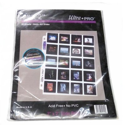 """[富豪相機]Uitra.pro 無酸性正片保護頁135mm2""""X2"""" 20 Sheets-Holds 400 Slide"""