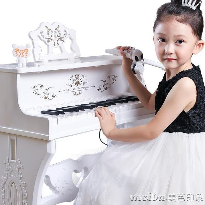 貝芬樂電子琴麥克風女孩早教音樂小男寶寶3-6歲玩具兒童禮物鋼琴QM