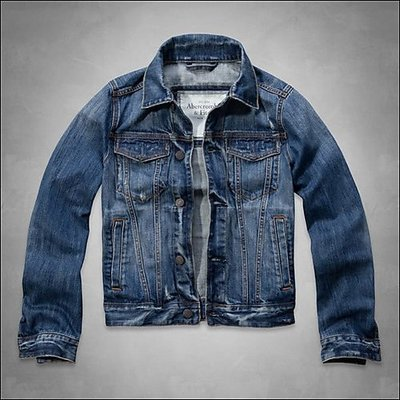 美國AMPM 【現貨】AF/ A&F  Haystack Mountain Denim Jacket 男版牛仔夾克/ S號