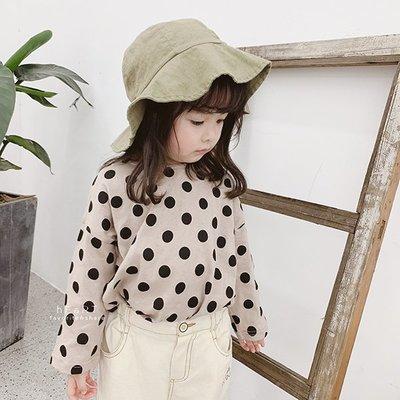【可愛村】韓系寬鬆滿版圓點長袖上衣 童裝