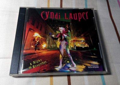 NO329 二手CD 辛蒂·羅波 CYNDI LAUPER A NIGHT TO REMEMBER 699元起標