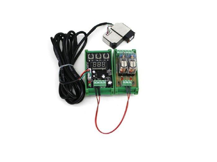 DC12V  PM2.5空氣 粉塵偵測警報繼電器模組+負離子產生器