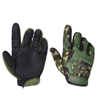 手套男 戶外運動手套 戰術手套全指男真人反恐軍迷格鬥戰術防滑運動騎行手套yx769
