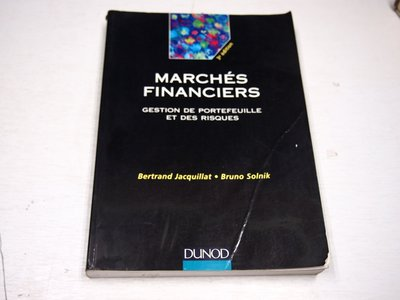 【考試院二手書】《MARCHES FINANCIERS》│Bertrand Jacquillat │七成新(B11Z65