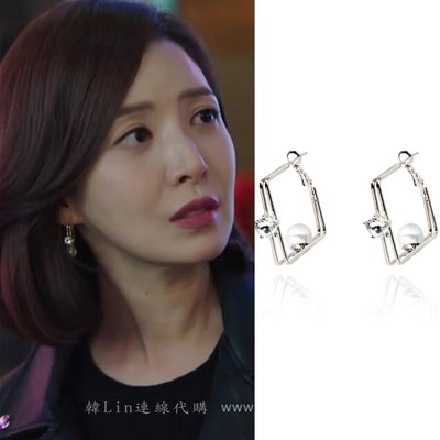 【韓Lin連線代購】韓國 GET ME BLIN- 明星同款抗敏銀耳針珍珠耳環 OVERLAP