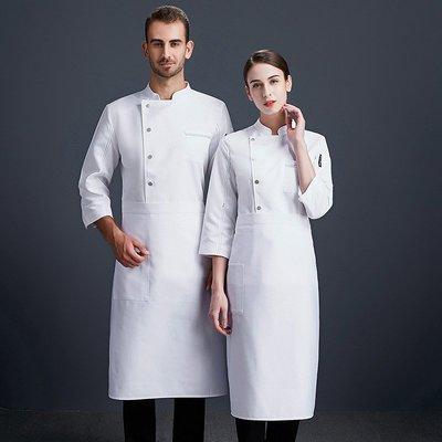 299起售-高檔廚師工作服男夏季餐飲西餐廳后廚房黑色廚師服上衣七分袖套裝#工作服#衣服#創意#實用