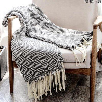精選 北歐冬季保暖單人休閑沙發蓋毯辦公室毛毯全棉民宿ins波西米亞毯
