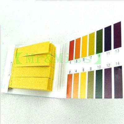 【Mr&Miss】附發票 酸鹼廣用試紙PH1~14 手工皂/化妝品/水質/水族箱測試/自然科教材