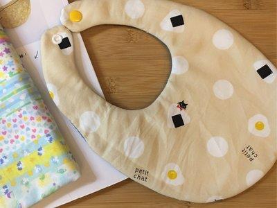 日本2重紗荷包蛋貓貓+彩虹款,雙面兜兜,造型兜兜,圍兜