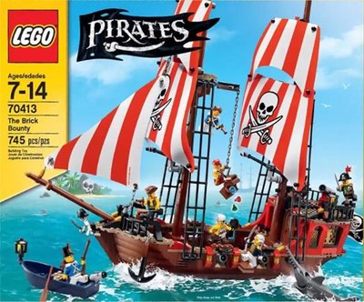 全新盒裝 LEGO 樂高   70413   Pirates The Brick Bounty   海盜船