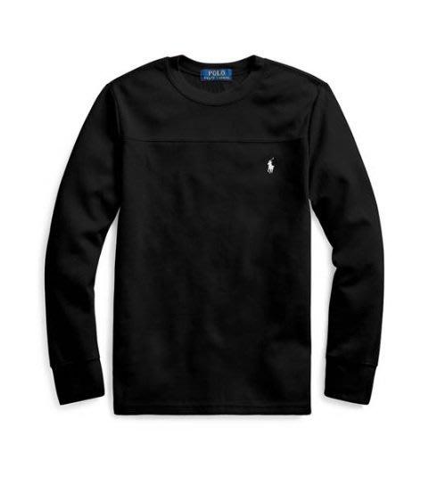 Polo Ralph Lauren 格子棉 長袖ㄒ恤 小馬 現貨 黑色 青年款
