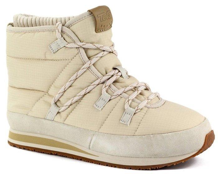 【艾咪】TEVA 女 Ember Lace 麵包中筒靴 雪靴 保暖靴 樺木白 只限一組