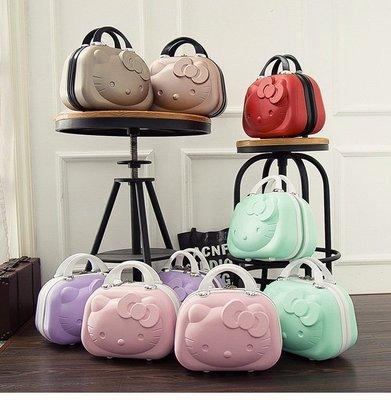 日韓精品3DHelloKitty14吋行李箱手提包手提箱含運Hello Kitty 凱蒂貓