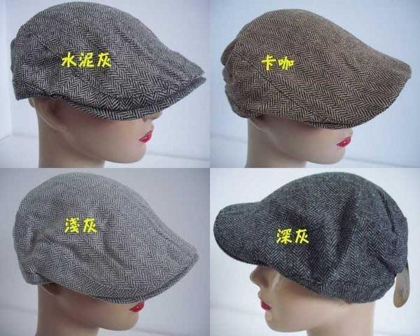 //阿寄帽舖// 人字紋 毛料薄款 打鳥帽 鴨舌帽 小偷帽 報童帽  !!