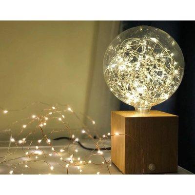 燈飾 照明 檯燈 床頭燈現代簡約木藝水晶球燈具臥室床頭小夜燈書房個性創意原木浪漫臺燈