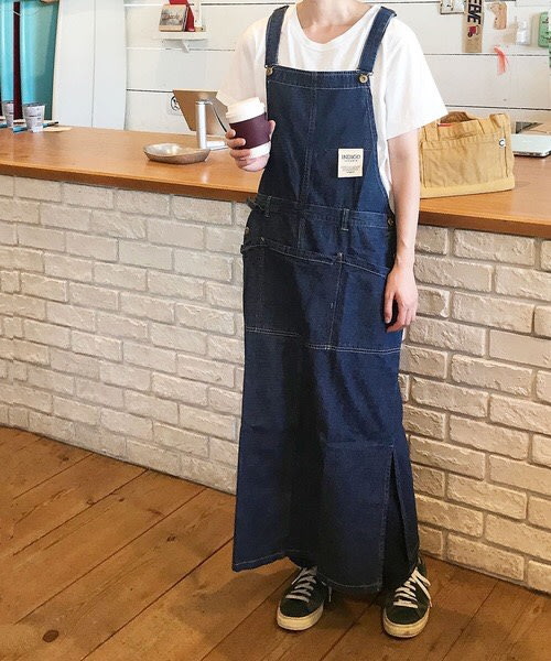 發現花園 日本選物~日本製  COCOWALK    三口袋  H型 牛仔圍裙 OM-180701