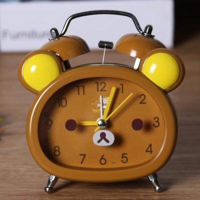 鬧鐘創意可愛小熊學生用簡約靜音臥室床頭女兒童多功能小鬧鐘迷你TA3378 買了否冷 可開發票 免運