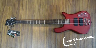 『立恩樂器』Warwick Rock Bass Streamer standard 紅色 消光 4弦 電貝斯 BASS