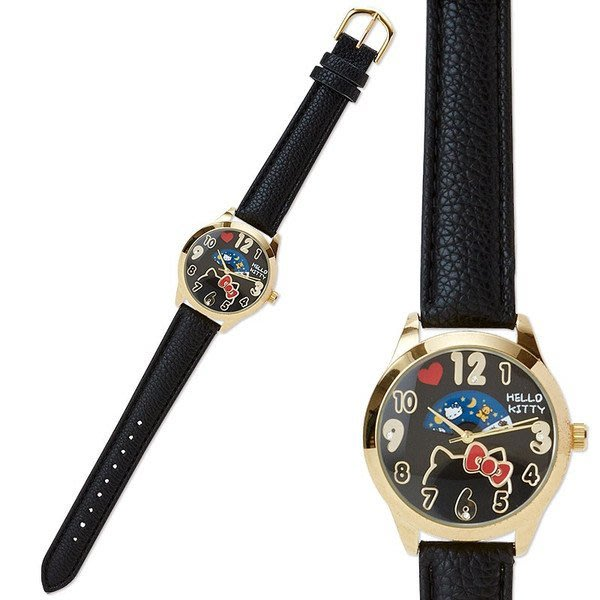 代購現貨 日本三麗鷗HELLO KITTY 新款低調日夜盤手錶