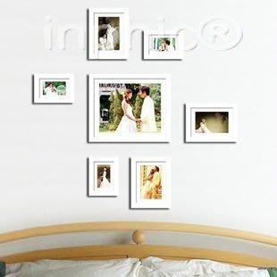 INPHIC-床頭相框 實木相框 相片牆 情人相框 掛牆 12吋大框組合
