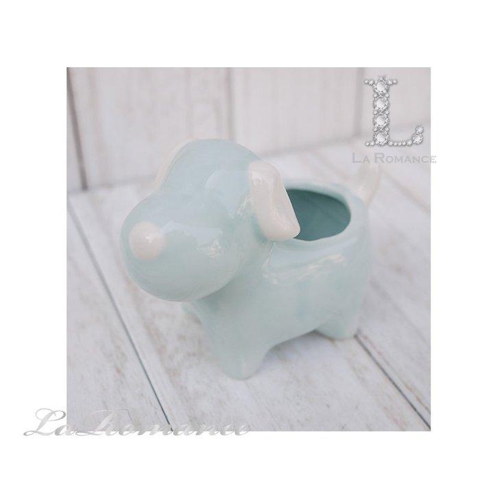 【義大利 EDG 特惠系列】 小狗陶瓷迷你花器 (藍) / 盆栽 / 庭院 / 童趣