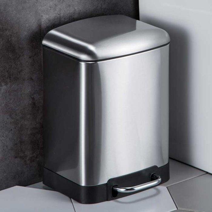 不銹鋼垃圾桶腳踏式歐式創意家用衛生間廚房客廳有蓋靜音