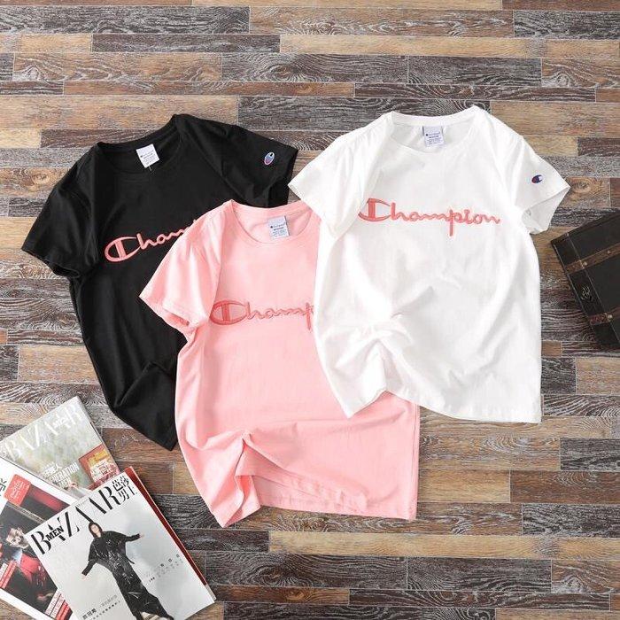 Chris精品代購 美國Outlet Champion 冠軍 春夏新款 短袖 T恤 胸前經典字母Logo刺繡 三色任選