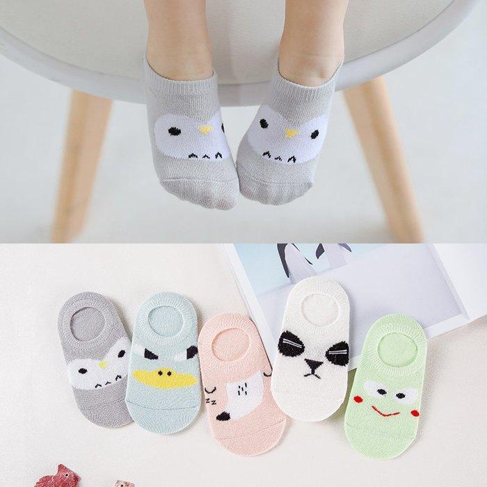 【小阿霏】兒童隱形襪一組5雙入 淺口船襪短襪子 男童女童寶寶中性襪 中小中大尺碼PA83