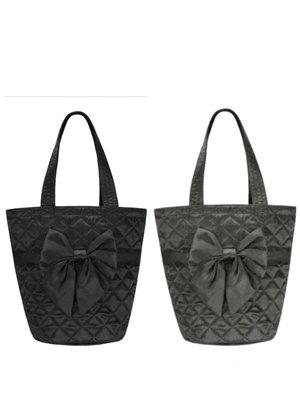 【泰國直送新色】全新3色@NaRaYa曼谷包菱格紋蝴蝶結手提包/水桶包《NBS-07》