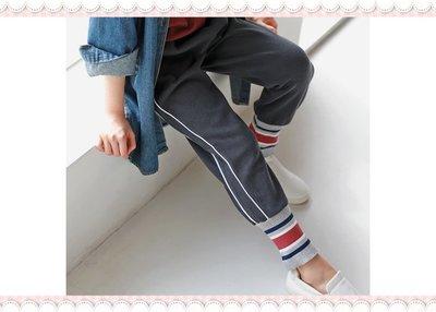 。~ 寶貝可愛 ~。韓國精選JKIDS簡約時尚,J4291 特色束口舒適慢跑褲。現貨優惠