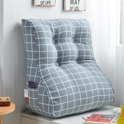 【木優生活】護腰三角床靠背墊床頭板軟包靠枕床上靠墊沙發大靠背枕可拆洗-免運費