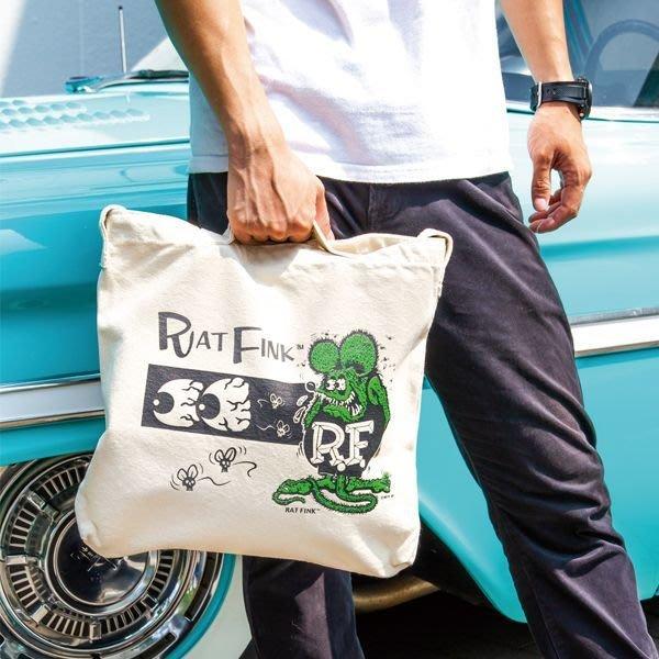 (I LOVE 樂多) RAT FINK RF 老鼠芬克 手提 側背包 2WAY包 兩款