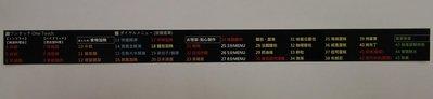 現貨 TOSHIBA 東芝 ER-PD3000 及 ER-N300 面板 中日文貼紙(只有面板)