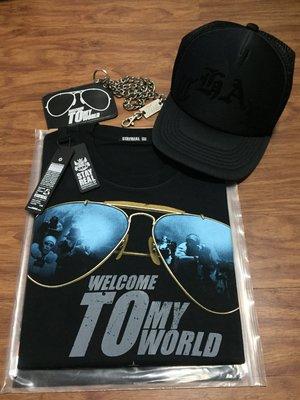 拍賣唯一!全新曹格 Gary Chaw演唱會周邊:STAYREAL t恤/網帽/掛鍊票夾 (黑)~可拆賣可面交!